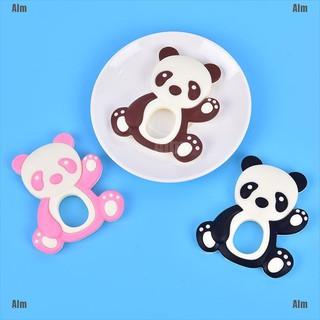 1PC Cartoon Silicone Beads Mini Panda Baby Teether DIY Newborn Teething Toy