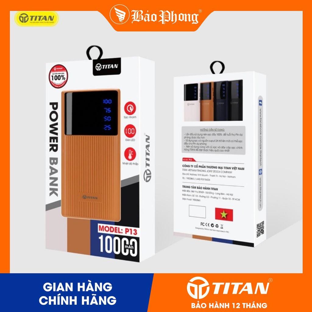 Pin dự phòng TITAN 10.000mah - có màn LED - CHÍNH HÃNG MỚI 100% NGUYÊN SEAL