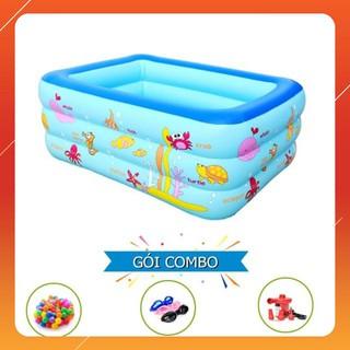 [KAS] Bộ sản phẩm bể bao 3 tầng 1m5 kèm 100 Banh kính bơi bơm điện Giảm giá