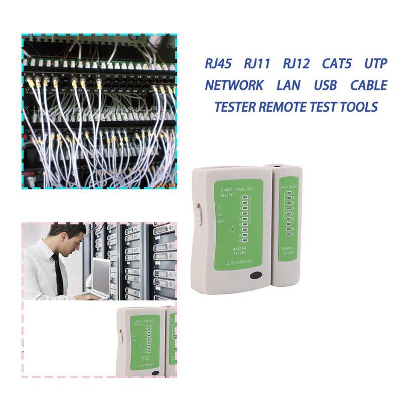 8.15【HOT】RJ45 RJ11 RJ12 CAT5 UTP Network LAN USB Cable Tester Remote Test Tools Giá chỉ 55.000₫