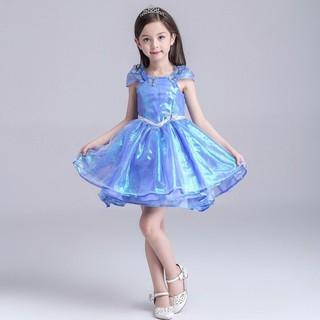 Váy Công chúa Lọ Lem Ánh Tím Xanh Ngắn – Cinderella P1856