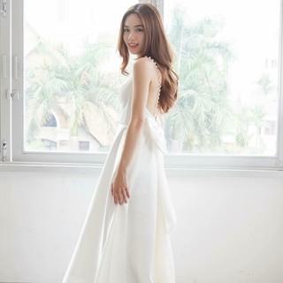Đầm Dạ Hội Phi Nơ Lưng – Hàng Thiết Kế Siêu Đẹp