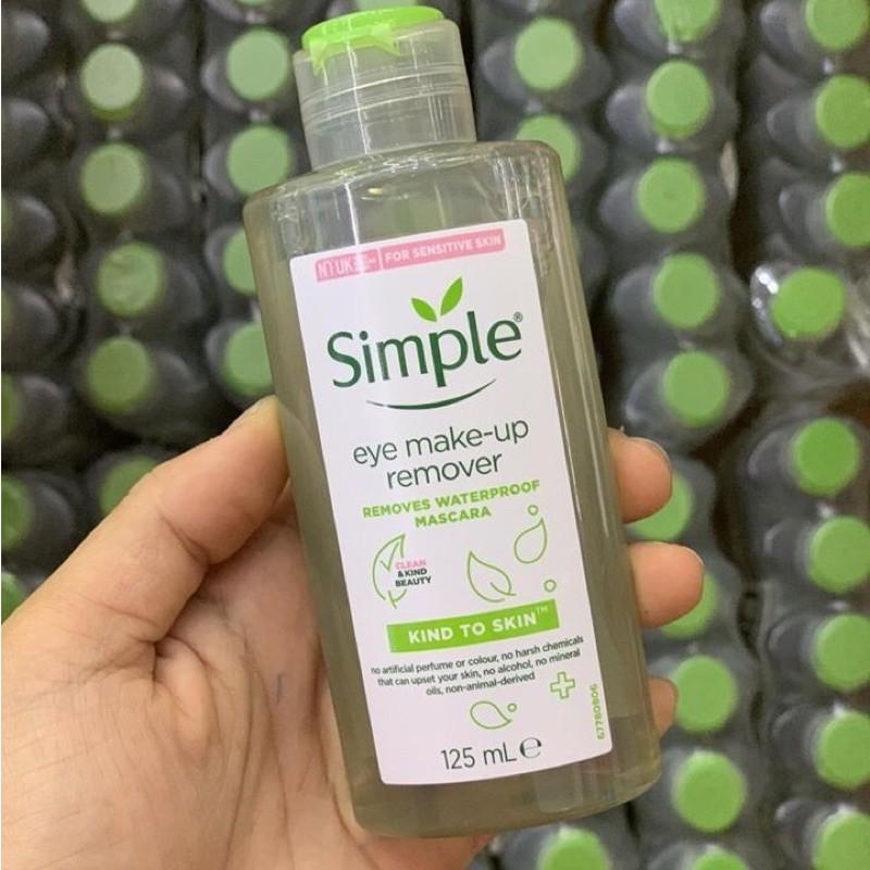 (Chính hãng, mẫu mới nhất) Bộ 03 sản phẩm #simple tẩy trang, sữa rửa mặt, toner