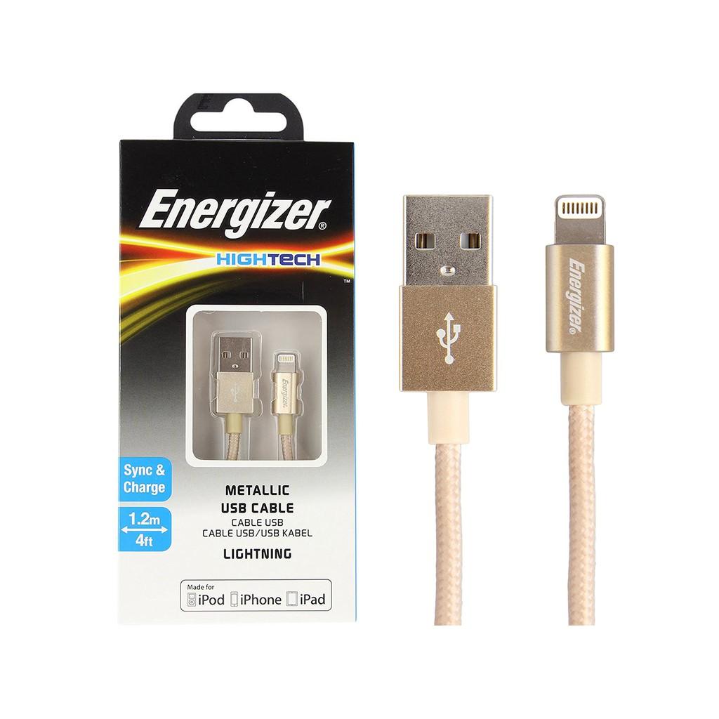 Cáp Energizer HT USB Lightning Alu 1.2m màu vàng - C13UBLIGGD4