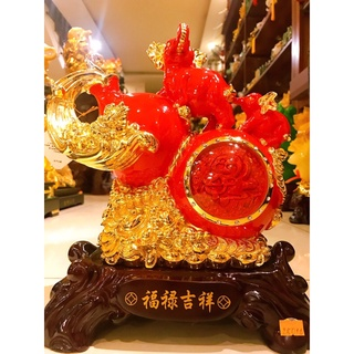 Tượng Hồ Lô Phong Thuỷ thu hút vượng khí, trấn trạch trừ tà màu đỏ .