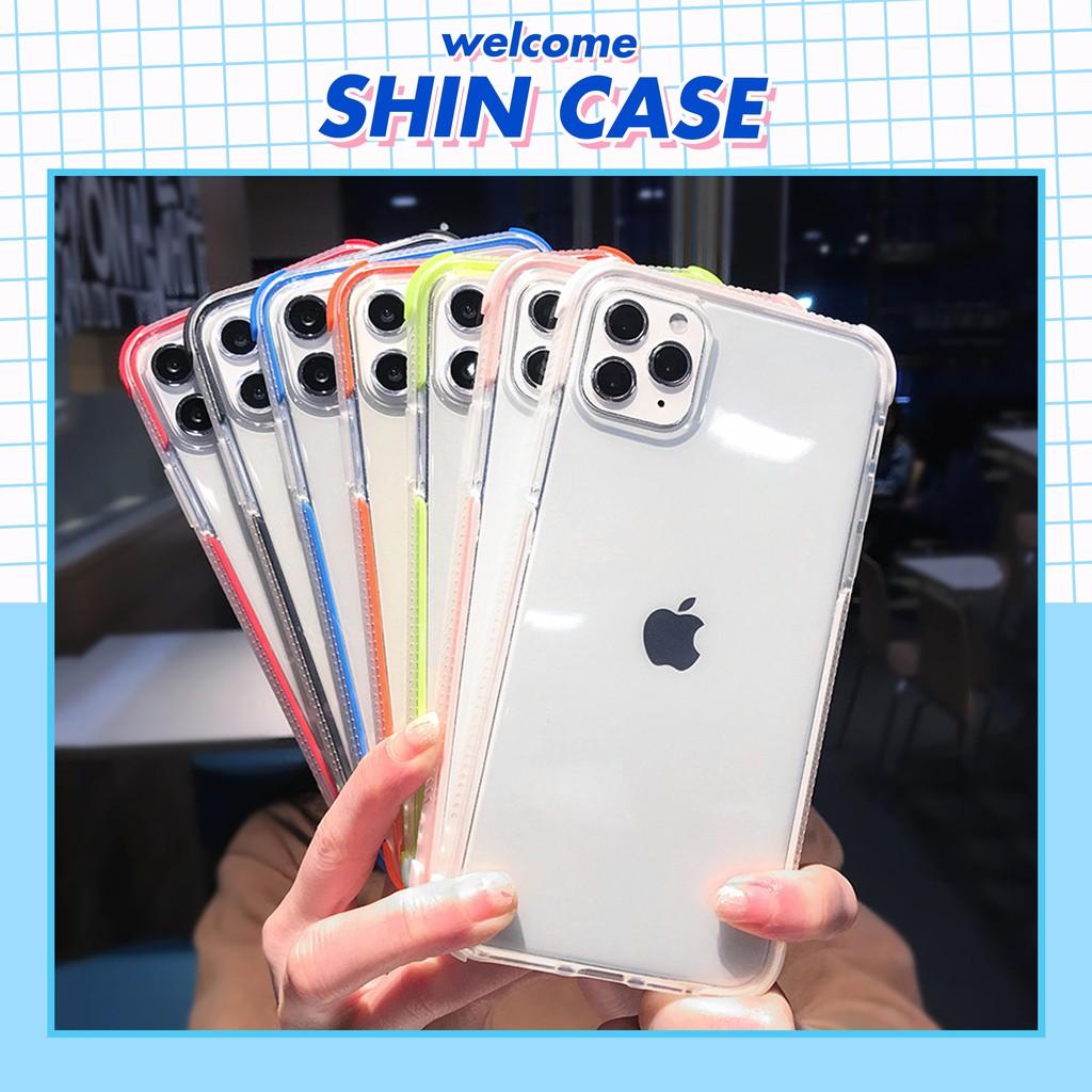 Ốp lưng iphone Viền màu chống trượt, chống va đập 6/6plus/6s/6s plus/6/7/7plus/8/8plus/x/xs/xs max/11/11 pro/11 promax