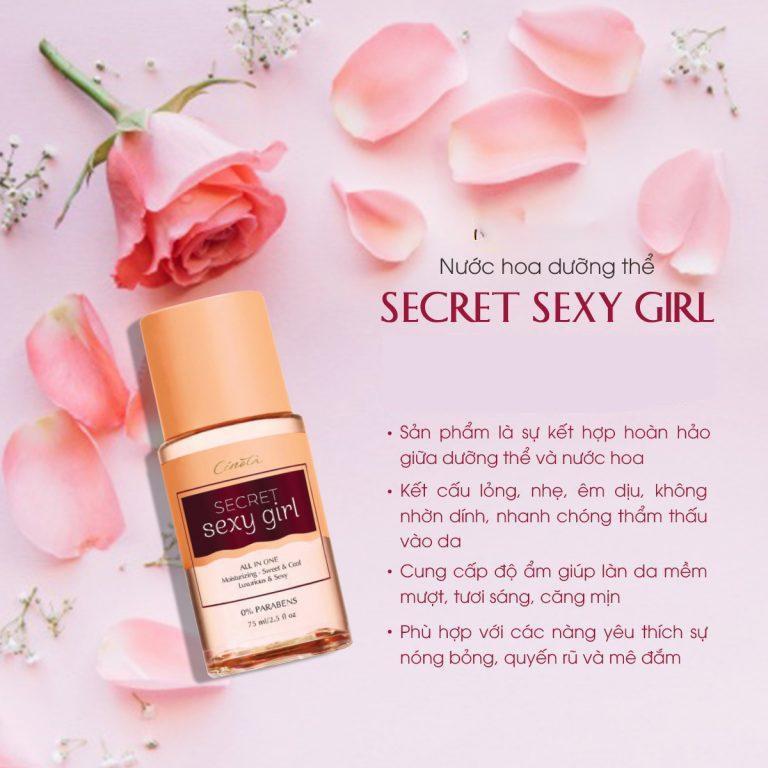 Nước hoa dưỡng thể Cénota Secret Sexy, nước hoa dưỡng thể hương thơm quyến rũ- PG15