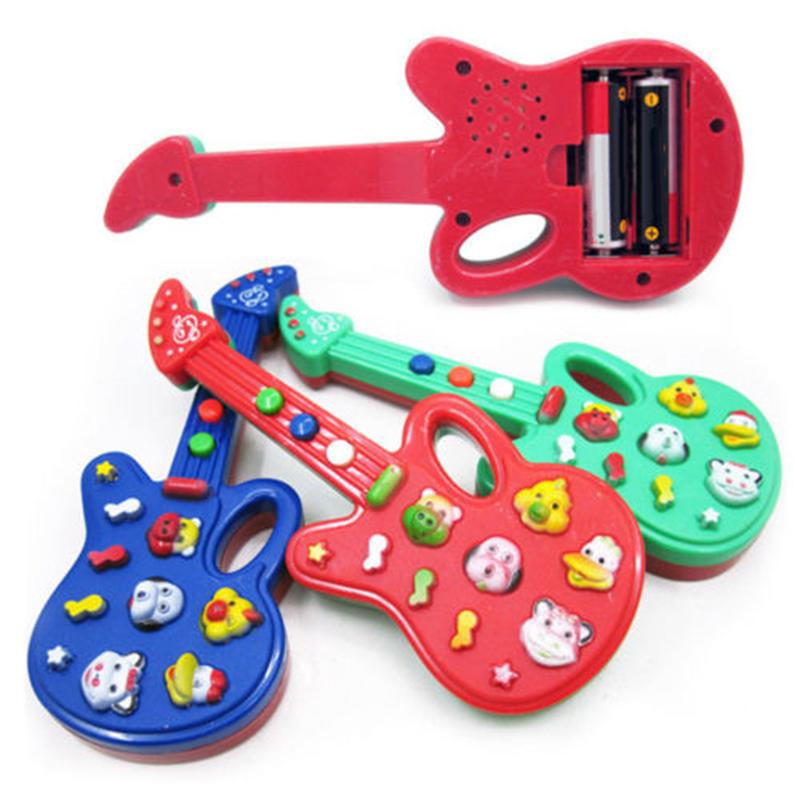 Pop Baby Kids Electronic Guitar Educational Rhyme Develop Music Sound Toy 3Color