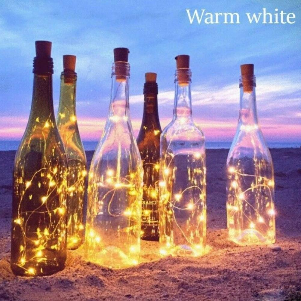 Dây Đèn Led 10 Bóng Hình Nút Bần Trang Trí Chai Rượu - Đèn ngoài trời