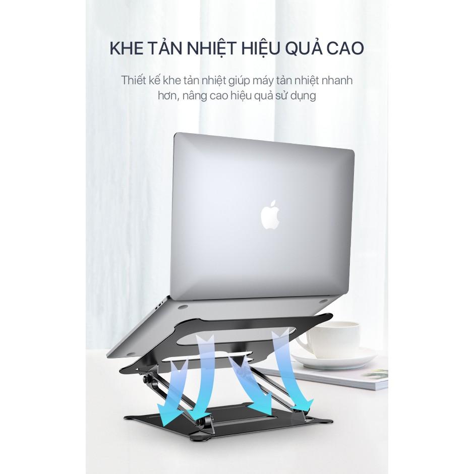 Giá Đỡ Laptop/Máy Tính Bảng VLS01 Hợp Kim Nhôm Cao Cấp Tăng Giảm Chiều Cao Tản Nhiệt