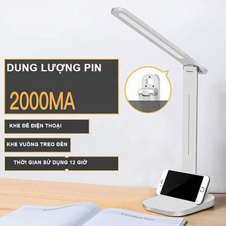 Đèn bàn led đa năng chống cận, sạc điện cảm ứng vân tay pin 2000mah tiết kiệm điện năng mẫu mới 2020