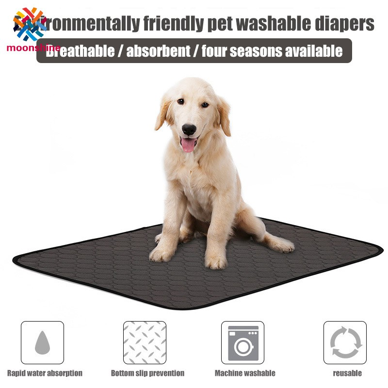Dog Urine Mat Strong Water Absorption Non-slip Diaper Mat Washable Training Pad