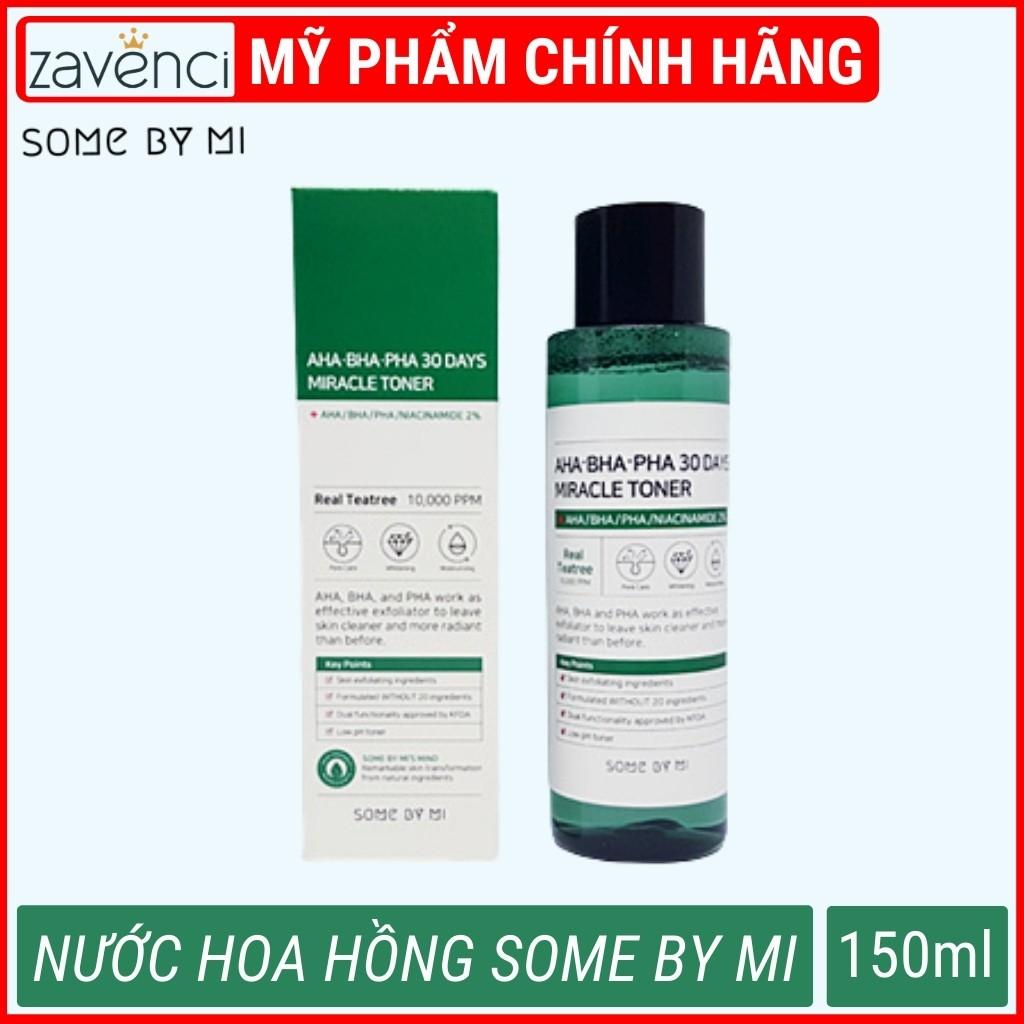 Nước Hoa Hồng SOME BY MI AHA-BHA-PHA 30 Days Miracle Toner Hỗ Trợ Sạch Mụn Trong 30 Ngày (150ml)