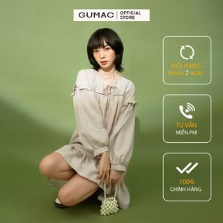 [Mã FASHION10KP giảm 10K đơn 50K] Đầm suông nữ GUMAC phom rộng đáng yêu tay dài đủ màu, đủ size DB1144 thumbnail