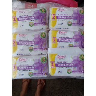 (Tặng 2m/gói)Lốc 6 gói Diana hàng ngày kháng khuẩn (20m/gói)