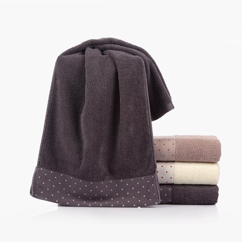 Khăn lau mặt cotton chấm bi xinh xắn cỡ 34 * 75cm
