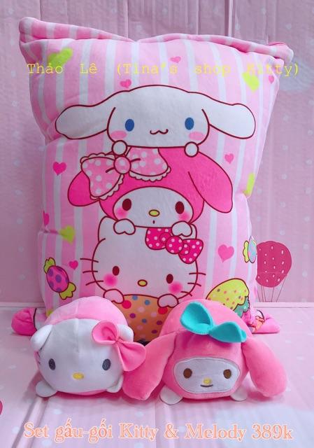 Gấu - gối Kitty 2in1