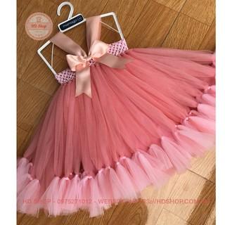 Váy công chúa cho bé ❤️FREESHIP❤️ Váy công chúa hồng cam thiên nga cho bé gái