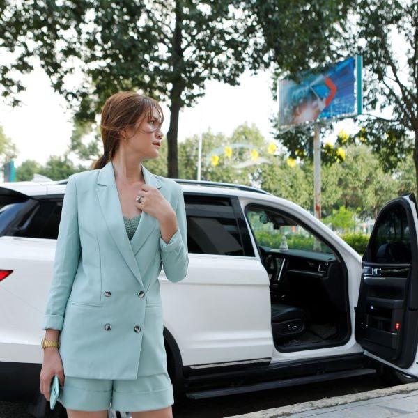 Set Áo Vest Blazer Nữ - Form Slimfit- Mix Short Ống Rộng - 5 size Từ S-3Xl - HAPPY WEAR(Chuẩn Hàng May Đo )