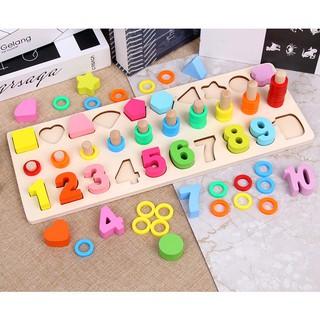 Bộ đồ chơi đếm số gỗ (loại đẹp)