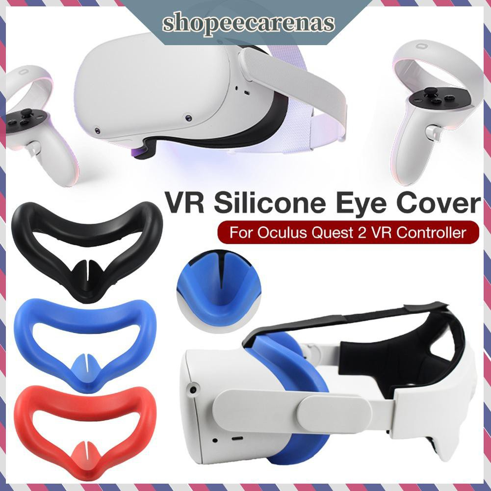 CARENAS☆ VR Glasses Washable Nonslip Anti Sweat Silicone Eye Mask for Oculus Quest 2