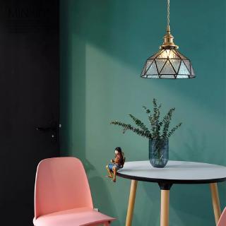 Đèn trần chất liệu đồng bóng thủy tinh nhỏ kiểu Nhật Bản sang trọng dùng trang trí phòng ngủ