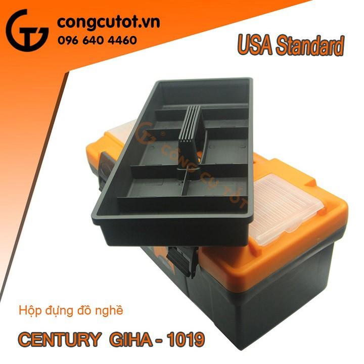 Hộp đựng dụng cụ, đồ nghề CENTURY GIHA-1019 tặng kèm cờ lê Yeti thép cao cấp