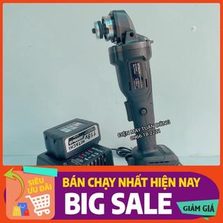 Máy cắt cầm tay dùng pin Hitachi 118v, 2 pin 20000mAh, không chổi than, tặng lưỡi cưa xích cắt gỗ và đá cắt, đá mài [CAM