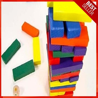 [FLASH SALE] Đồ chơi gỗ – domino màu 54 thanh cho bé [ẢNH THẬT]
