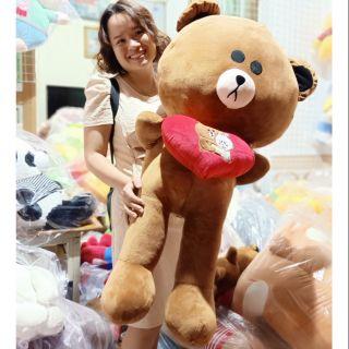 Gấu bông gấu brown tình yêu size 1m