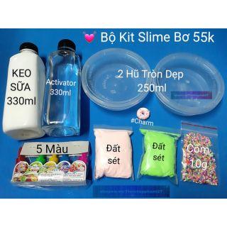 [ 55k ] Bộ Kit Slime Bơ / Butter Slime / 9 Món siêu rẻ