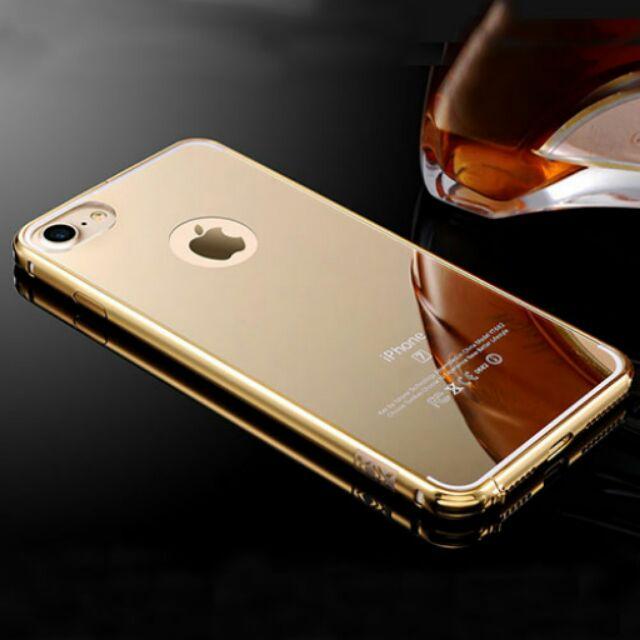 IPHONE Ốp tráng gương mạ vàng cực đẹp