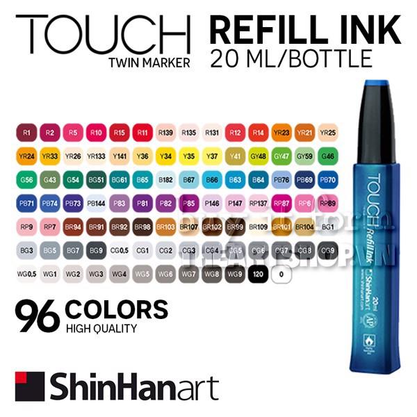 (P2) Mực nạp marker TOUCH refill ink 20ml - ShinHan Art