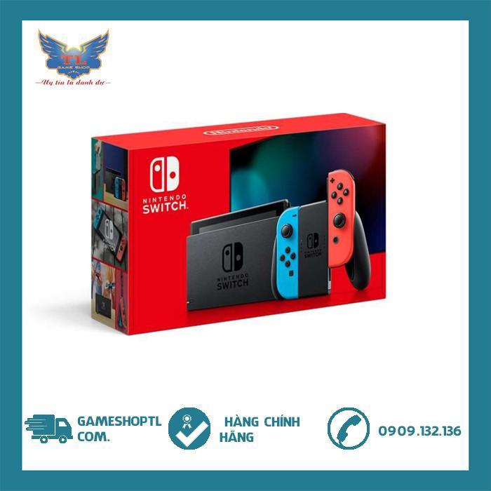 Máy Nintendo Switch V2 Neon Blue Và Red Joy‑Con - Model 2019 - Dung Lượng Pin Gấp