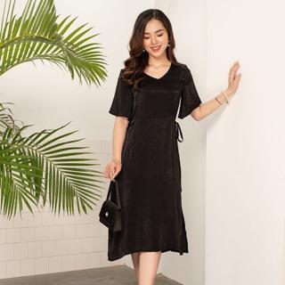 Váy bầu công sở Sakura Dress chất lụa quyến rũ cho mẹ bầu đi tiệc, đi chơi thiết kế bởi LAMME thumbnail