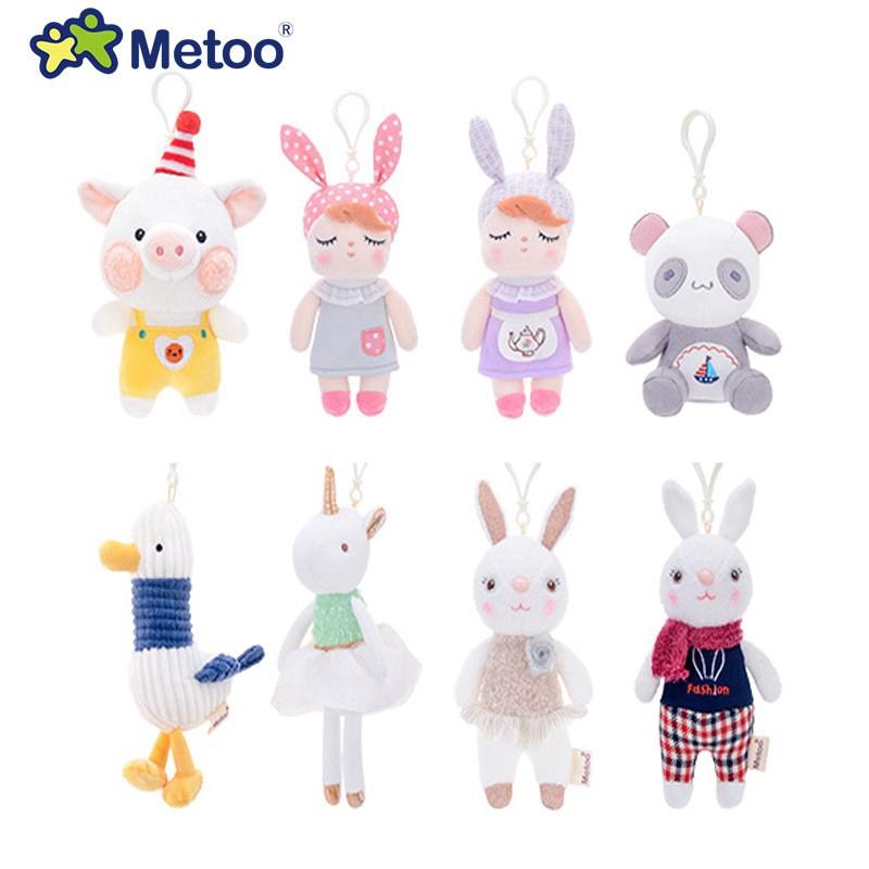 Mini metoo búp bê sang trọng động vật đồ chơi angela thỏ mặt dây chuyền