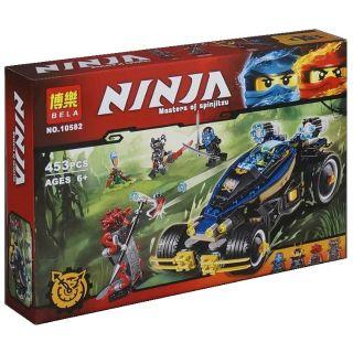 Lego Ninja Siêu xe bọc thép Samurai Vxl Bela 10582