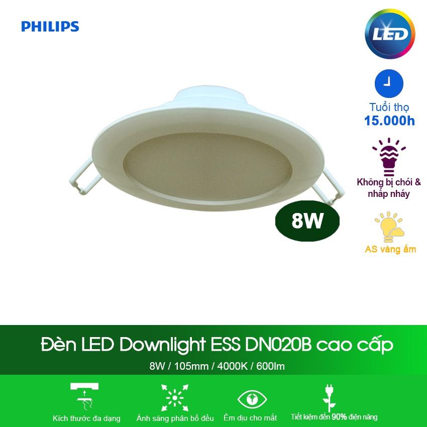 Đèn Philips LED Downlight âm trần DN020B 8W 4000K - Ánh sáng trung tính - 3603079 , 1316883366 , 322_1316883366 , 136000 , Den-Philips-LED-Downlight-am-tran-DN020B-8W-4000K-Anh-sang-trung-tinh-322_1316883366 , shopee.vn , Đèn Philips LED Downlight âm trần DN020B 8W 4000K - Ánh sáng trung tính