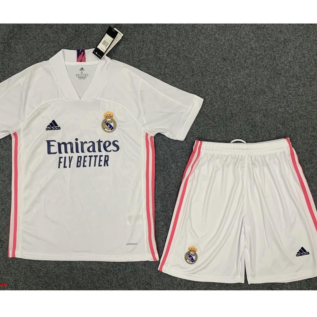 Bộ quần áo thun thái Real Madrid 20/21 Trắng