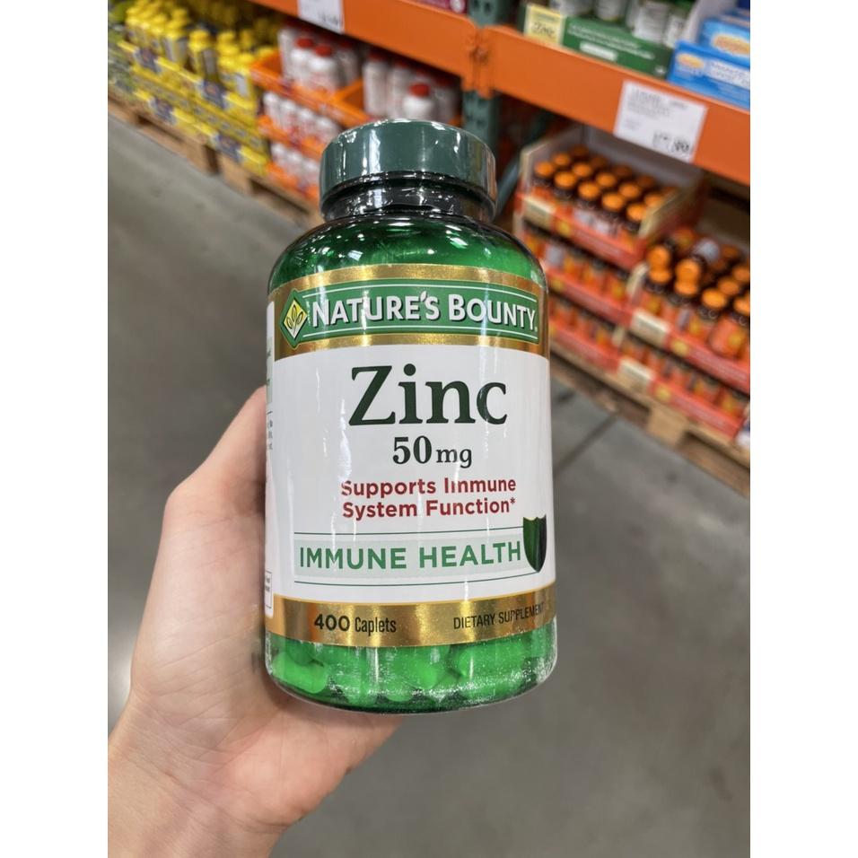 Viên uống bổ sung kẽm Zinc 50mg Nature's Bounty