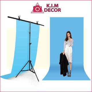 Khung treo phông chụp ảnh sản phẩm giá treo phông nền decor chụp sản phẩm background khung chữ T điều chỉnh độ cao 2X01 thumbnail