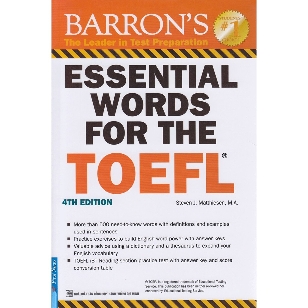 Essential Words For The TOEFL - 4th Edition (Tái Bản 2017)