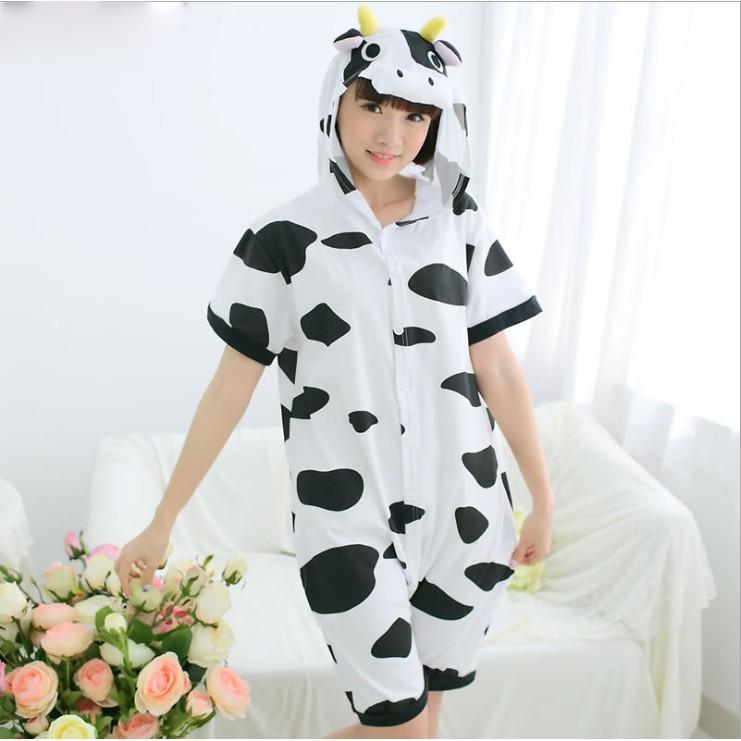 Bộ Đồ Thú Bò Sữa Ngắn Tay Mùa Hè [Hàng Sẵn]