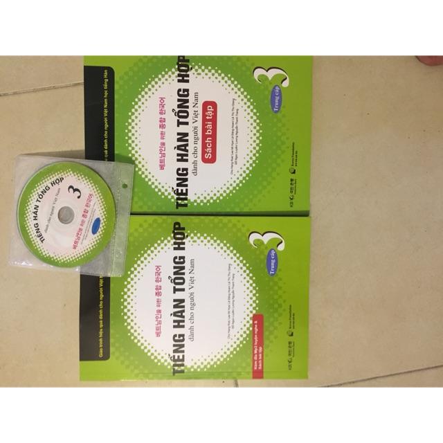 Sách - Tiếng Hàn Tổng Hợp sách + bài tập tập 3 kèm CD