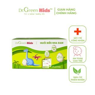 Muối rửa mũi Dr.Green Kids, hộp 30 gói, vệ sinh mũi cho bé, hiệu quả với viêm mũi, sổ mũi, viêm mũi dị ứng