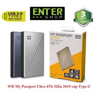 Ổ cứng di động WD My PassPort Ultra 4Tb cáp Type-C