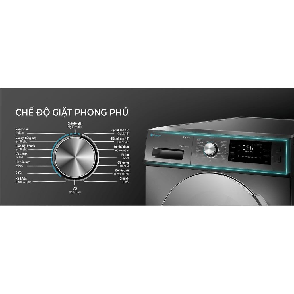 WF-85I140BGB- MIỄN PHÍ CÔNG LẮP ĐẶT-Máy giặt Casper 8.5 KG WF-85I140BGB