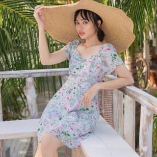 Đầm mini HEYBEE dáng xòe, chất liệu voan họa tiết hoa xinh xắn - Mae Dress HT382 thumbnail