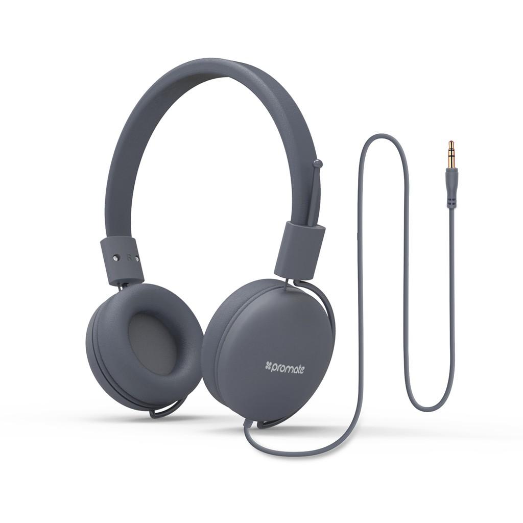 Tai nghe On-Ear Promate Soul bọc đệm mềm (Đen)
