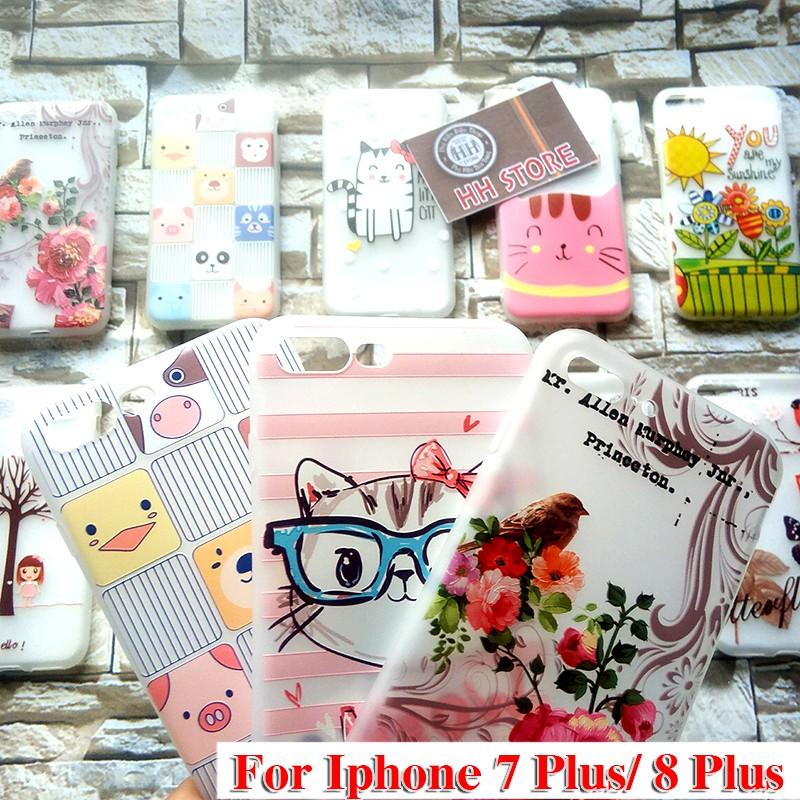 Ốp lưng Iphone 7 Plus - Ốp 8 Plus mềm nhiều họa tiết xinh xinh